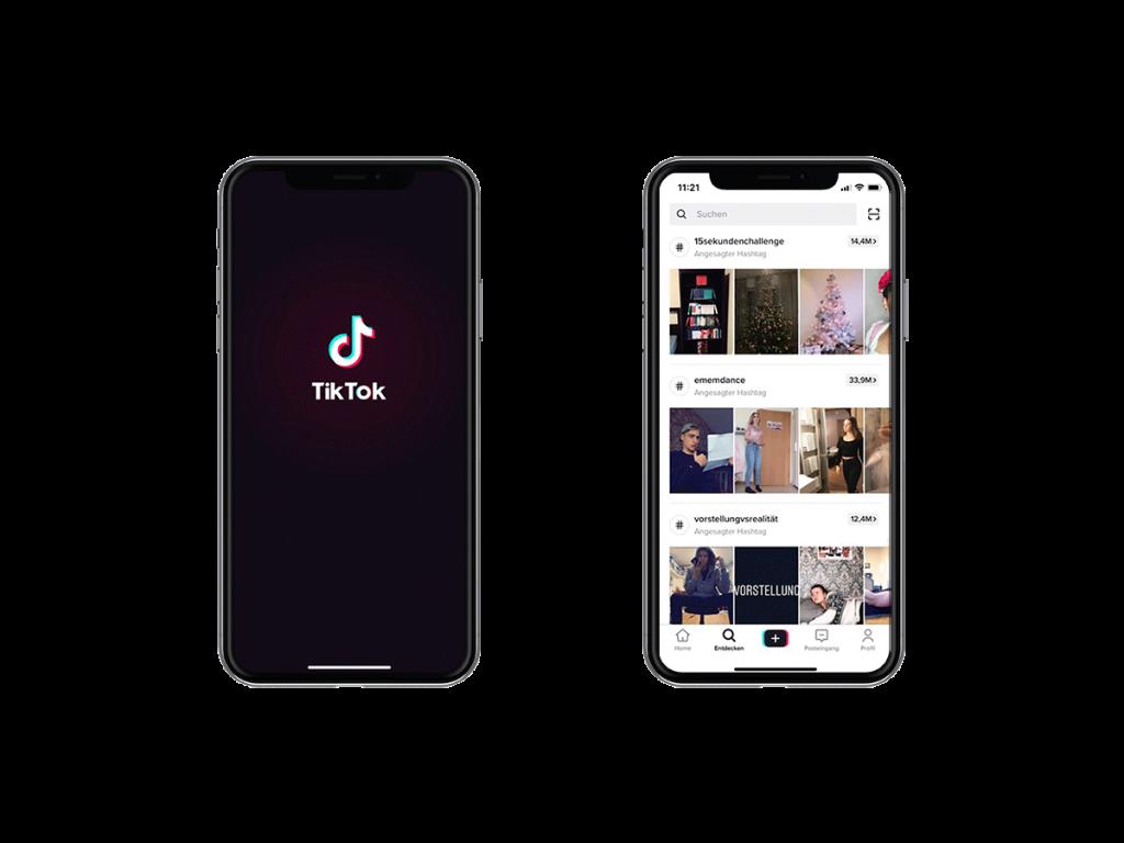 TikTok als App auf dem Smartphone.
