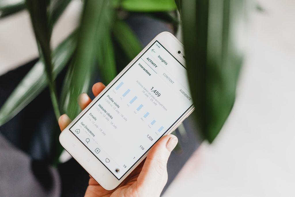 Instagram Insights auf Smartphone